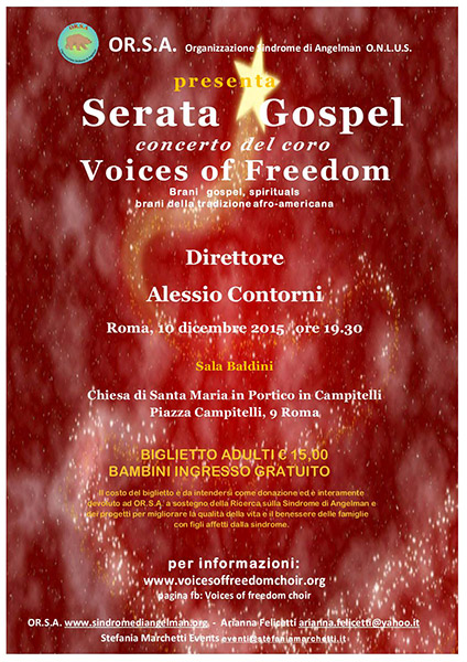 SERATA GOSPEL. CONCERTO DEL CORO Voice of Freedom